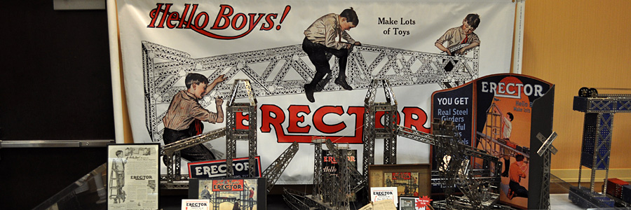 Erector Sets on display at the 2014 annual convention